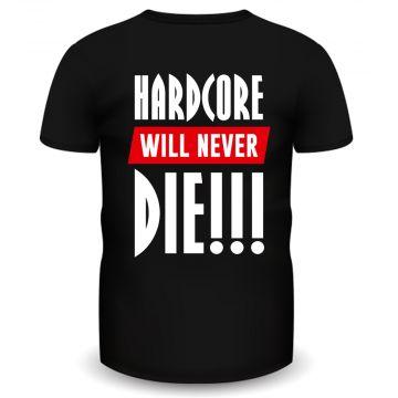 Hardcore Holland T-shirt never die | zwart