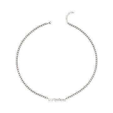 100% Hardcore ketting logo 65 CM | zilver