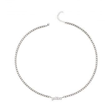 100% Hardcore Halskette Gabber 65 CM | Silber-