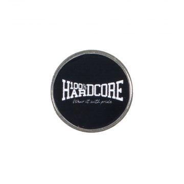 100% Hardcore pin logo