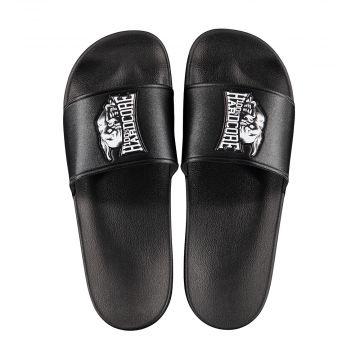 100% Hardcore slippers RAGE | zwart