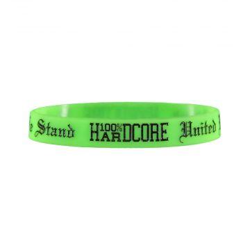 100% Hardcore Armband UNITED WE STAND | Neongrün
