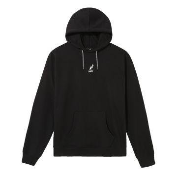 Australian Hard Court hooded sweater engel artwork op rug | zwart