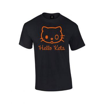 Hard-Wear T-shirt Hello Keta | zwart - oranje