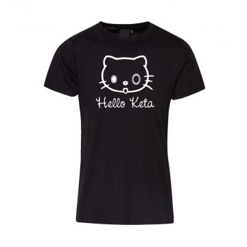 Hard-Wear T-shirt HELLO KETA | zwart
