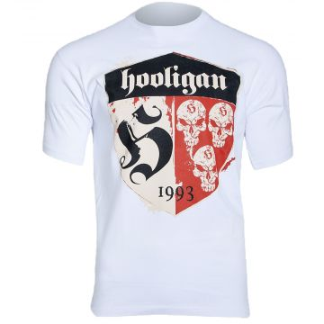 Hooligan T-shirt Shelter | wit