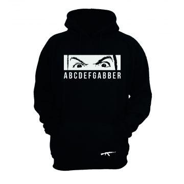 Peckerhead hooded sweater ABCDEFGABBER not a normal day | zwart