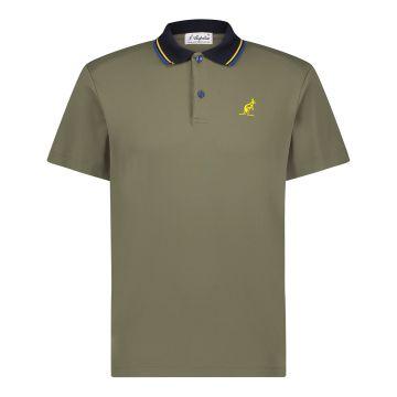 Australian luxe polo | army green