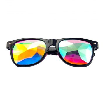 Loud and Clear caleidoscoop bril wayfarer diamond | zwart