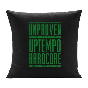 Unproven kussen uptempo hardcore groene print