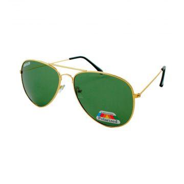 Loud and Clear piloten zonnebril gepolariseerd metaal goud | groene glazen