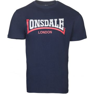 Lonsdale T-shirt Tweekleurige Print Logo | navy