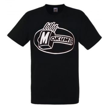 Mokum T-shirt Glow In The Dark   zwart