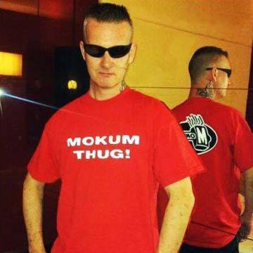 Mokum Records T-shirt Thug   rood