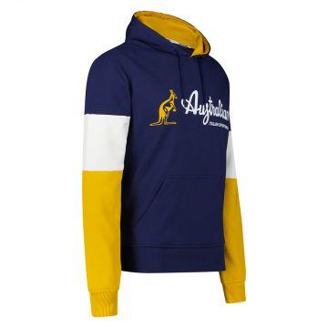 Australian Sportswear hooded sweater tri-colour block | cosmo blauw