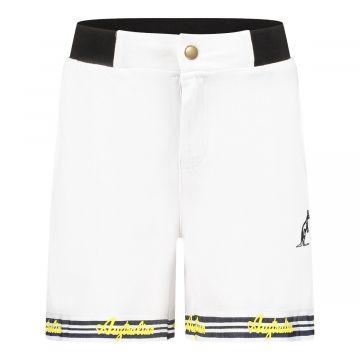 Australian kids korte broek gele logo's | wit