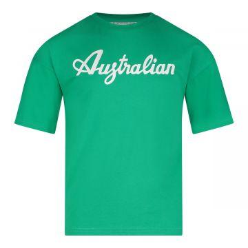 Australian kids T-shirt basic logo | groen