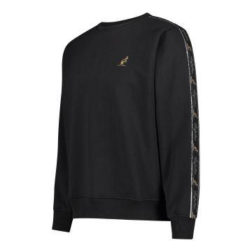 Australian trui met zwarte bies op de mouwen 2.0 | zwart