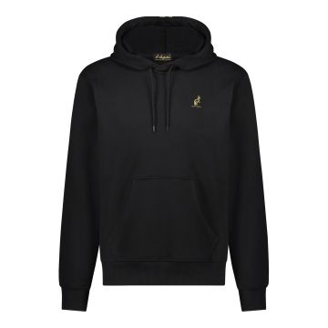Australian hooded sweater met gouden rugbies 2.0| zwart