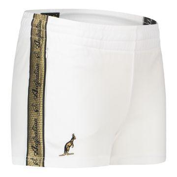 Australian dames hotpants met gouden bies 2.0 | wit