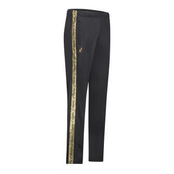 Australian broek met 2 ritsen en gouden bies 2.0 | zwart