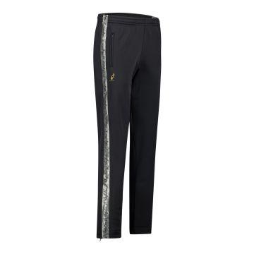 Australian broek met 2 ritsen en zilveren bies 2.0 | zwart