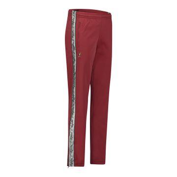 Australian broek met 2 ritsen en zilveren bies 2.0 | bordeaux rood