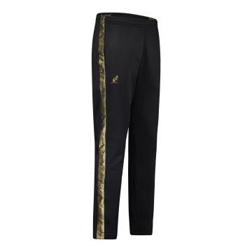 Australian broek slim fit met 2 ritsen en gouden bies 2.0 | zwart