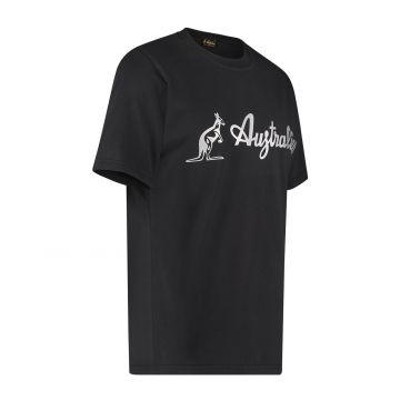 Australian T-shirt met zilveren logo   zwart