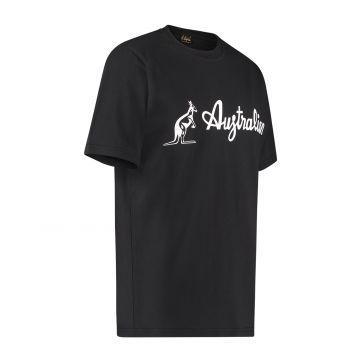 Australian T-shirt met wit logo   zwart