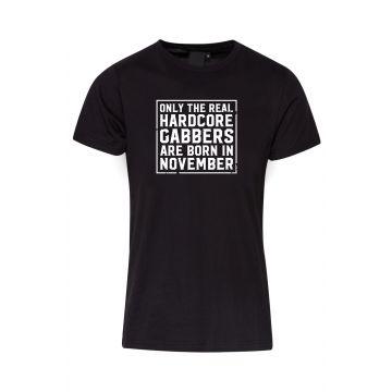 Hard-Wear T-shirt O.R.H.G.A Born In November | zwart