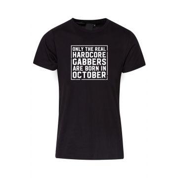 Hard-Wear T-shirt O.R.H.G.A Born In October | zwart