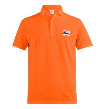 Elitepauper polo met patch | oranje