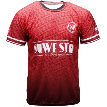 Ouwe stijl is botergeil soccer T-shirt   rood 004