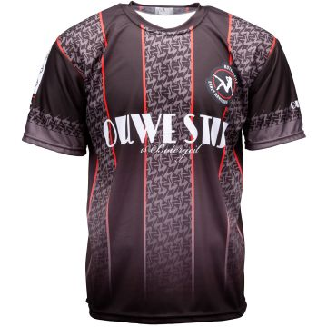 Ouwe stijl is botergeil soccer T-shirt   zwart 003