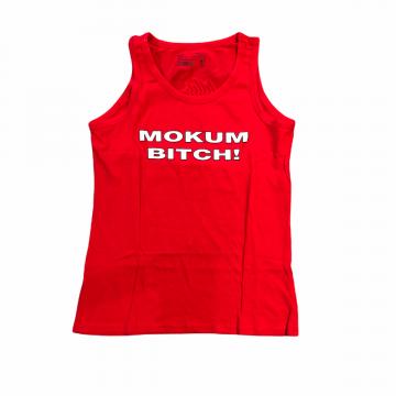 Mokum Records dames singlet Mokum Bitch!   rood