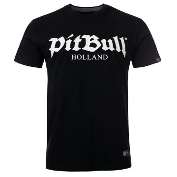 Pit Bull Holland T-shirt old logo | zwart