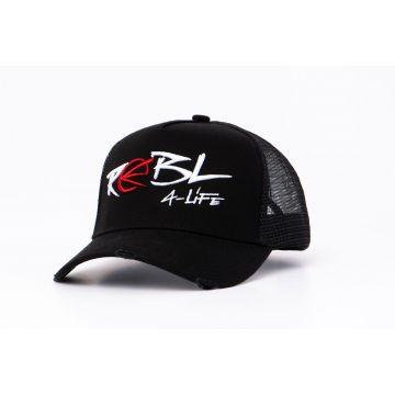 REBL trucker cap geborduurd logo