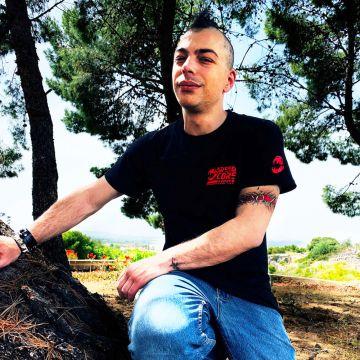 Speedcore Italia T-shirt SCIM-001 rode editie   zwart