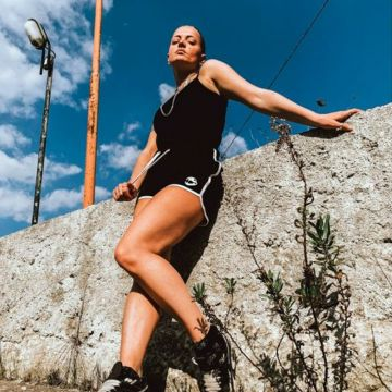 Speedcore Italia dames korte broek   zwart