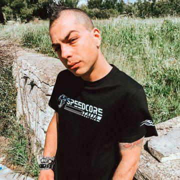 Speedcore Italia T-shirt SCIM-002   zwart