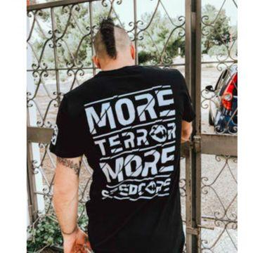 Speedcore Italia T-shirt more Terror more Speedcore!   zwart
