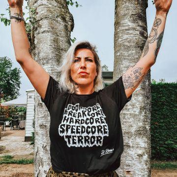 Speedcore Italia T-shirt DJ Rhose   zwart