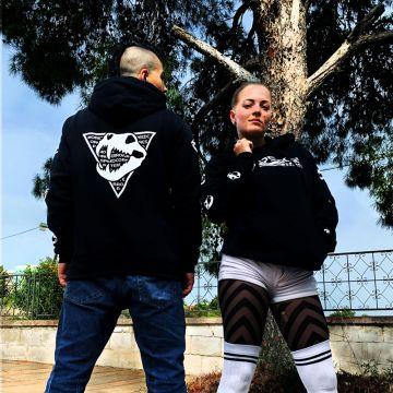 Speedcore Italia hooded sweater classic logo   zwart