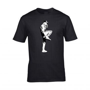 HakkuhVideos T-shirt gabber voor logo achter   zwart