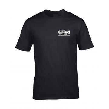 Play! Events T-shirt design 2   zwart