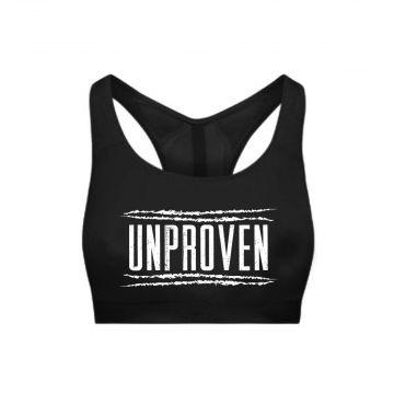 Unproven dames sporttop logo   zwart