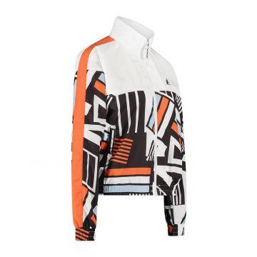 Australian sportswear dames trainingsjack onderkant print boven wit