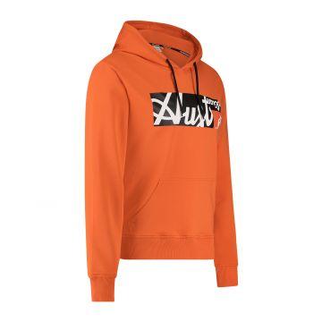 Australian Sportswear hooded sweater met rechthoek logo print op de voorkant | lava