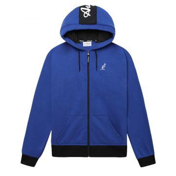 Australian sportswear zip hoodie fleece logo   koningsblauw
